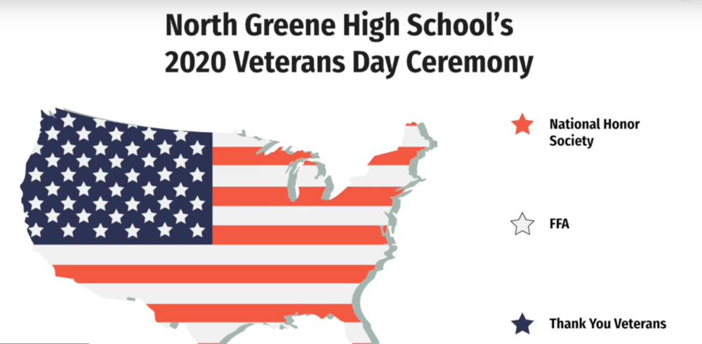 North Greene High School's 2020 Veterans Day Ceremony