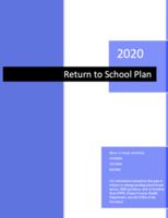 2020 Return to School Plan