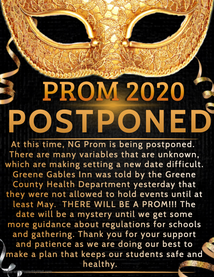 Prom announcement